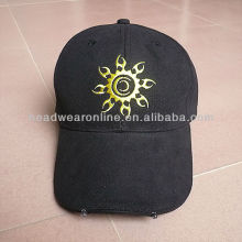 LED cap 2015new custom 100% cotton fashionable led light baseball cap and hat wholesale made in Guangdong manufacturer
