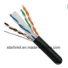 FTP CAT6 LSZH Cable Fluke Testé Soild Nare Copper Black