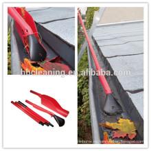Kit de limpieza de canales fáciles de alcanzar, grabber de hojas con 3 manijas de sección