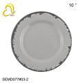 Round plastic dish plates melamine plates charger plates wholesale