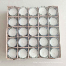 china supplier white wax no smoke glass candle wholesale