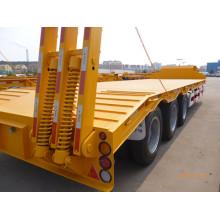 Cimc Trailer Truck Loading Excavator Loader Low Bed Trailer