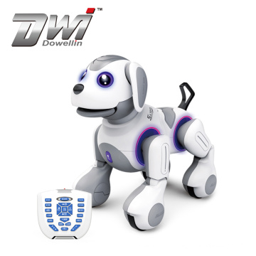 remote control dancing infrared story robot smart dog with music-light