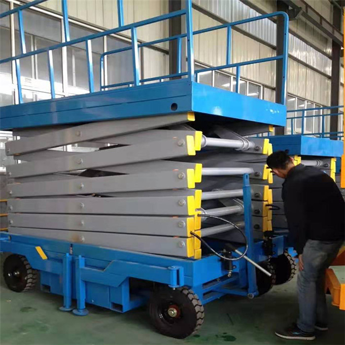 400kg manual mobile scissor lift platform