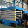 300kg-800kg manual mobile scissor lift platform