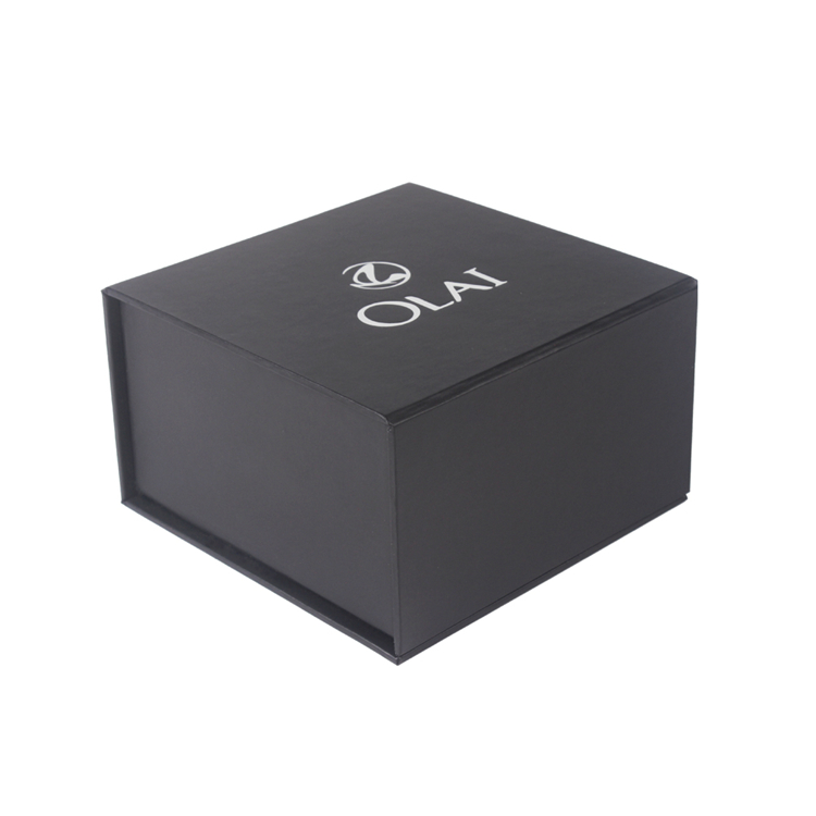 Wholesale Square Foldable Black Pendant Box Packing