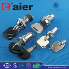 Interruptor de cerradura de llave eléctrica impermeable Daier