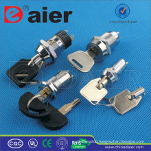 Daier waterproof electrical key lock switch