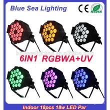 Фабричная цена для высокой яркости output18x18w Крытый этап rgbaw УФ привели пар свет