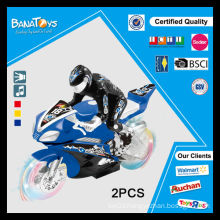 Hot item friction power toy with transparent wheel light cheap mini motorcycles