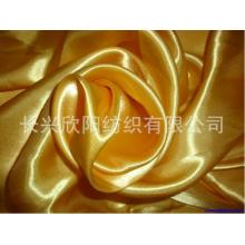 Crumpled polyester satin fabric