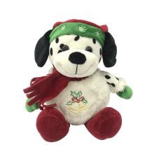 Felpa de la Navidad del perro manchado feliz