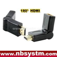 Drehen 180 Grad HDMI Adapter A Typ männlich zu weiblich