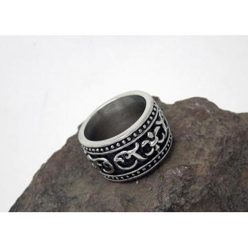 Bisutería de moda Punk Style Titanium Steel Metal Men Rings