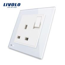 Livolo Производитель 1 Gang 1Way Кнопочный Настенный Выключатель С 13А Разъемом VL-W2Z1UK1-11