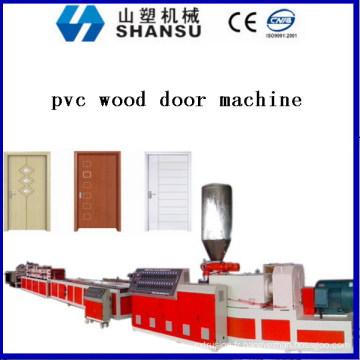 Marque de shansu PVC WPC PORTE LIGNE DE PRODUCTION WPC HOLLOW BOARD MACHINE shansu marque