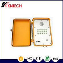 Téléphones lourds avec panneau en acier inoxydable Handfree Knsp-13 Kntech
