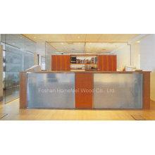 Mirror Salon Glass Reception Desk (LT-E409)