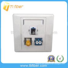 3 puertos SC-ST-LC placa de fibra óptica híbrida / placa de pared