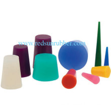 Molded Food Grade Tapered Silicone Rubber Plug