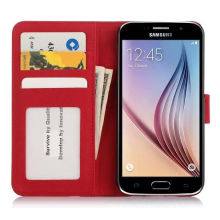 Случаи мобильного телефона PU кожаный чехол для Samsung С6 (СС-00100)
