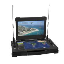 Переносная система управления беспилотным летательным аппаратом с двумя экранами GCS