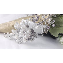 New design Exquisite fashion Shiny Crystal Pearl  Wedding band hair bands Women hair accessories