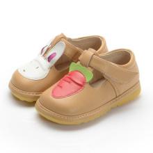 Light Tan Girl Baby Schuhe Kaninchen Karotte T Strap Schuh