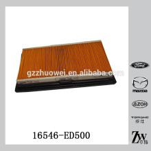 Filtre à air de voiture original de Japon, papier de filtre à air de voiture 16546-ED500