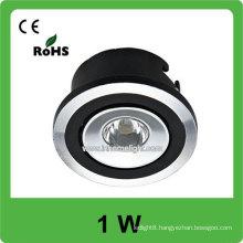 High power 1w AC 85v-265v round low profile led ceiling light