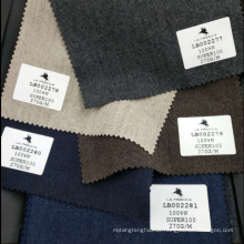High quality soft flannel brown wool material suiting fabric super 100's stock