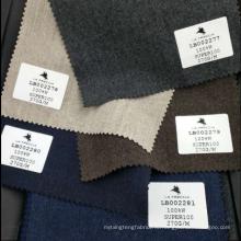 Высокое качество мягкой фланелевой коричневый шерсть материал костюмная ткань супер 100 акций