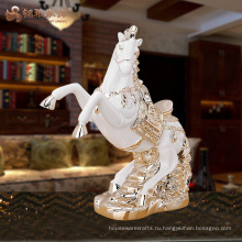 Китайский дом фэн-шуй украшения смолы лошадь фигурки для верхней части таблицы