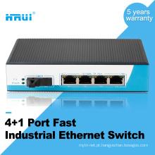 Único modo incontrolável firber 4 port 100 m interruptor de rede industrial ao ar livre