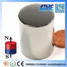 Starker N52 D25.4X38.1mm Zylinder Neodym Magnet