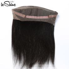 Indiano remy templo cabelo 100 humano reta 360 laço frontal pedaço grau 9a cabelo virgem
