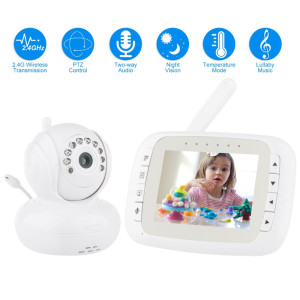 HD+Pan+Tilt+Night+Vision+Wireless+Baby+Monitor
