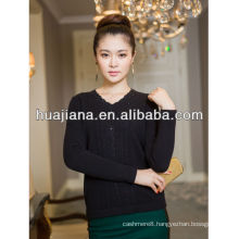 OEM service woman's cashmere sweater