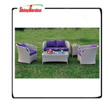 rattan luxury sofas outdoor furniture,imitation rattan garden furniture,4pcs aluminium rattan sofa set