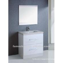 white high gloss paint bath cabinet