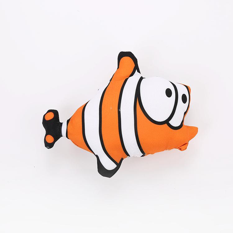 vente en gros jouet de chat de poisson en forme de dessin animé avec de l'herbe à chat