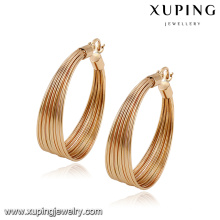 92786- Xuping Nuevos pendientes redondos de oro de moda