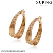 92786- Xuping Boucles d'oreilles rondes en or à la mode