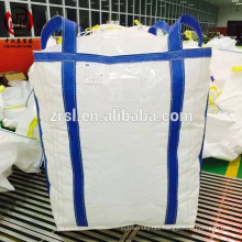 Polypropylene big bags tonne bags for barite powder , mining lifting bags cross corner loops