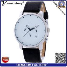 Yxl-428 New Style Fashion Watch Popular Good Quality Leather Calendar Watch Promotion Quartz Men Luxury Watches