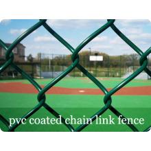 Зеленый цвет ПВХ с покрытием цепи ссылка заборы