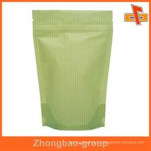 hot sale kraft paper bag with zip lock for chocolate packaging