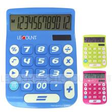 Calculadora de escritorio de doble dígito de 12 dígitos con gran pantalla LCD y teclas grandes (LC201-12D)