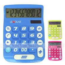 Calculatrice de bureau Dual Power de 12 chiffres avec grand écran LCD et grandes touches (LC201-12D)