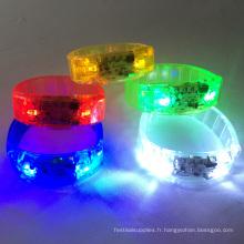 bracelets led activés par le son